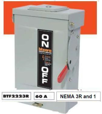 SAFETY SWITCH OUTDOOR 60A 2P FUSE