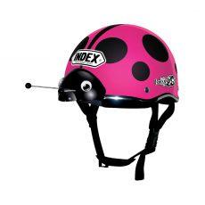 หมวกกันน็อคเด็ก INDEX รุ่น Lady Bug Pink
