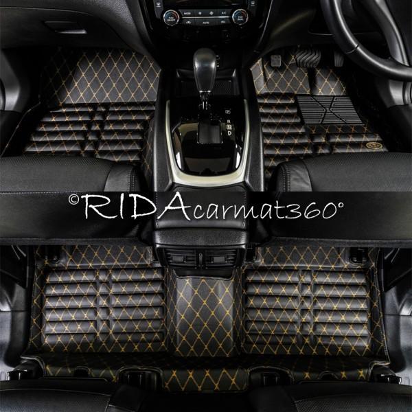 พรมปูพื้นรถยนต์ NEW ALTIS 2014 สีดำ-ทอง BY RIDA CAMAT 360