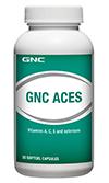 GNC ACES จีเอ็นซี เอ ซี อี เอส 30 Softgel Capsules Code: 712167 เลขทะเบียน อย. 2C 38/49