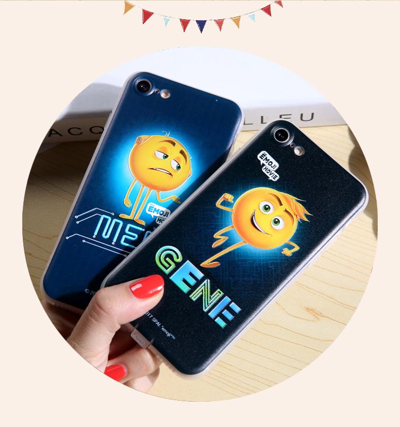 (557-009)เคสมือถือไอโฟน Case iPhone 6/6S เคสนิ่มTPU ลายนูน 3D The Emoji Movie