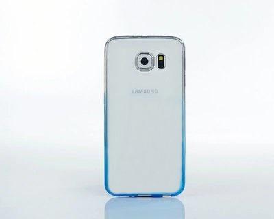 (พร้อมส่ง)เคสมือถือซัมซุง Case Samsung S6 edge เคสพลาสติกใสไล่โทนสีฟ้า