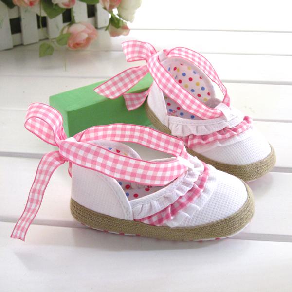 BE2036 (Pre) รองเท้าผ้า สาวน้อย (0-1 ขวบ)