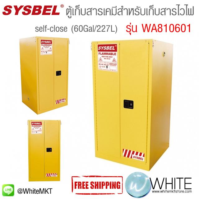 ตู้เก็บสารเคมีสำหรับเก็บสารไวไฟ Safety Cabinet (self-close)Flammable Cabinet (60Gal/227L) รุ่น WA810601