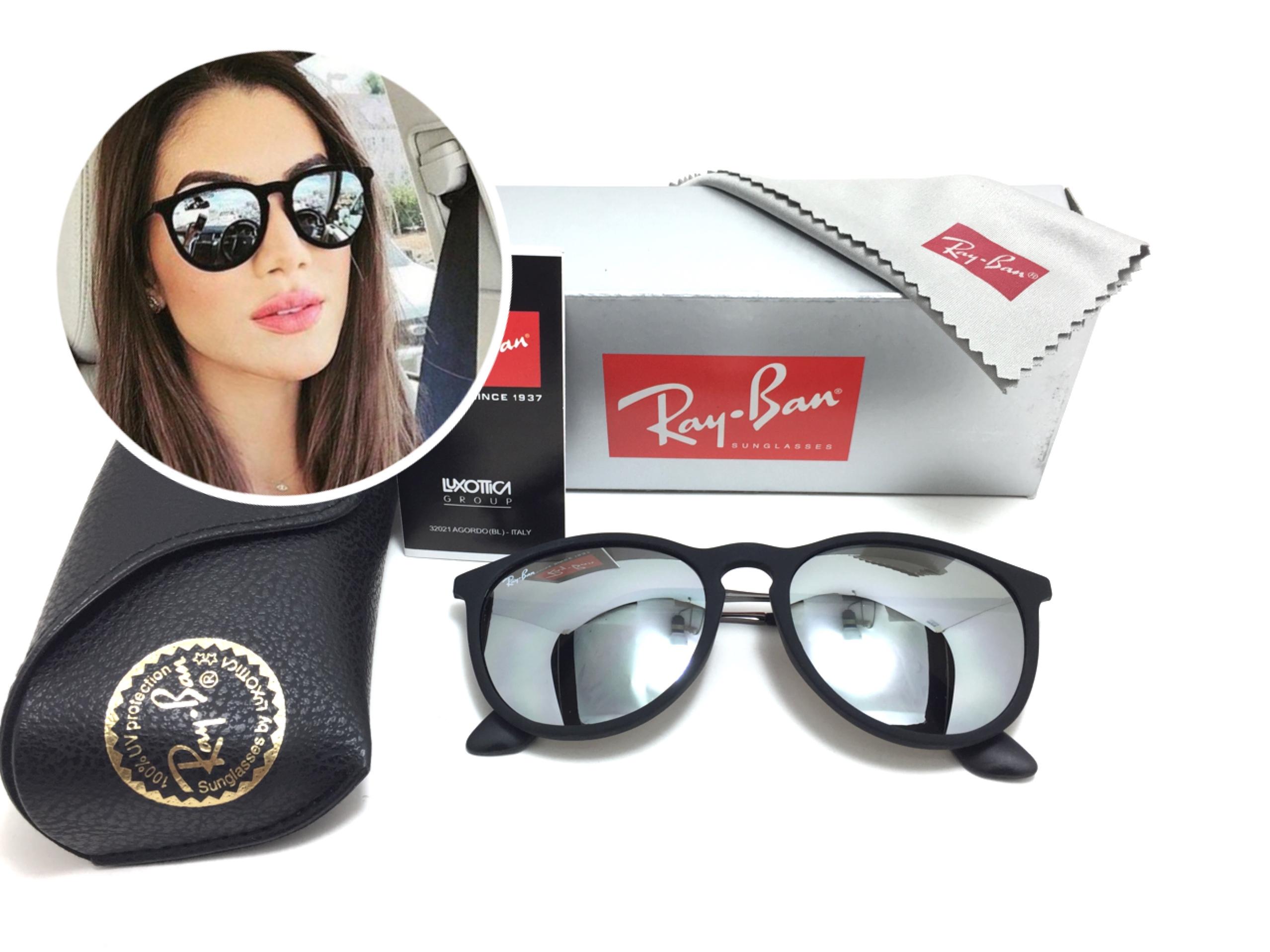 แว่นกันแดด RB 4171 erika 601/5A 54-18 3N <ปรอทเงิน>