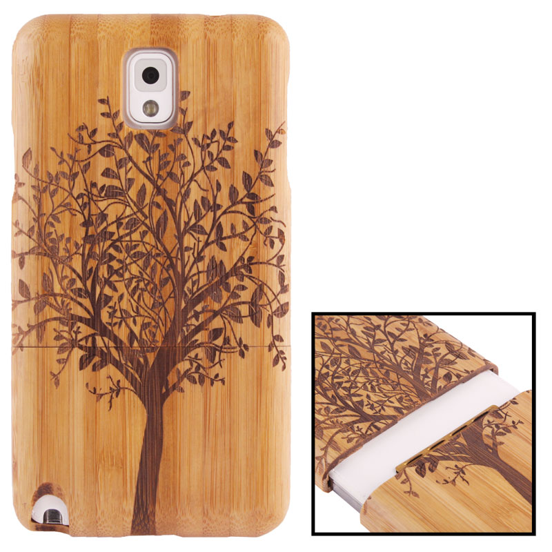 Woodcarving Tree Pattern Detachable Bamboo Material Case เคส Samsung Galaxy Note 3 (III) / N9000 ซัมซุง กาแล็คซี่ โน๊ต 3