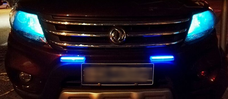 (585-001)ไฟโซล่าเซลล์ LED แต่งรถมีหลายโหมดแบบกระพริบ หรือไม่กระพริบขายดียอดฮิต
