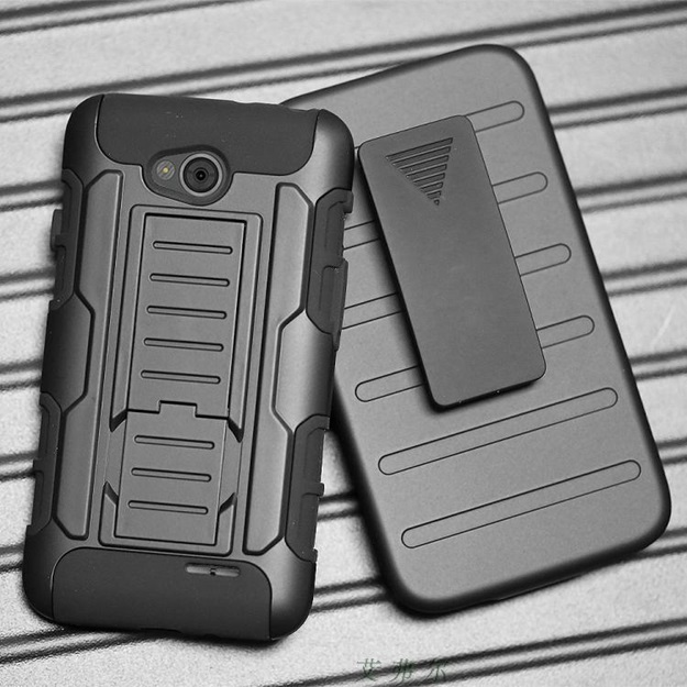 (002-126)เคสมือถือ Case LG L90 เคสนิ่ม+พื้นหลังประกบแบบพลาสติก+มีขาตั้ง+ที่เหน็บเอวสไตล์กันกระแทก