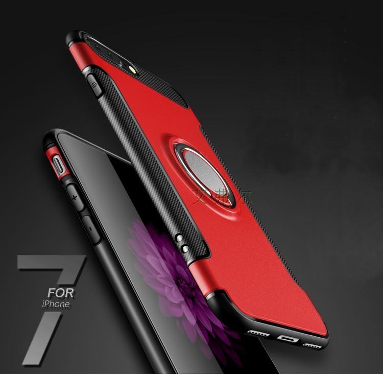 (002-210)เคสมือถือไอโฟน Case iPhone7 Plus/iPhone8 Plus เคสนิ่มเกราะพลาสติกสไตล์แฟชั่นแหวนติดรถ 360 องศา