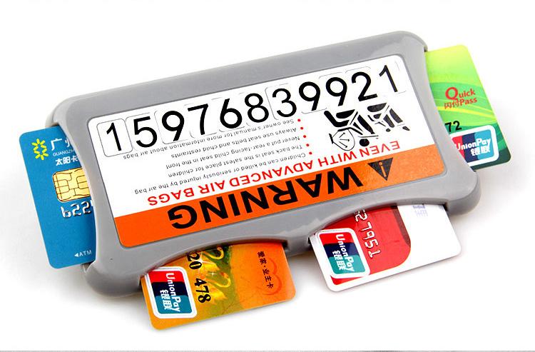 (564-001)กล่องเก็บการ์ดสำหรับติดกับบังแดดหน้ารถ
