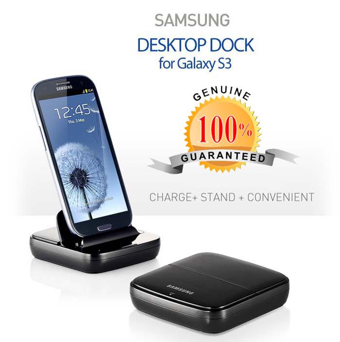 Genuine Samsung EDD-D200BEG Charging Desktop Dock Cradle Galaxy S3 SIII i9300
