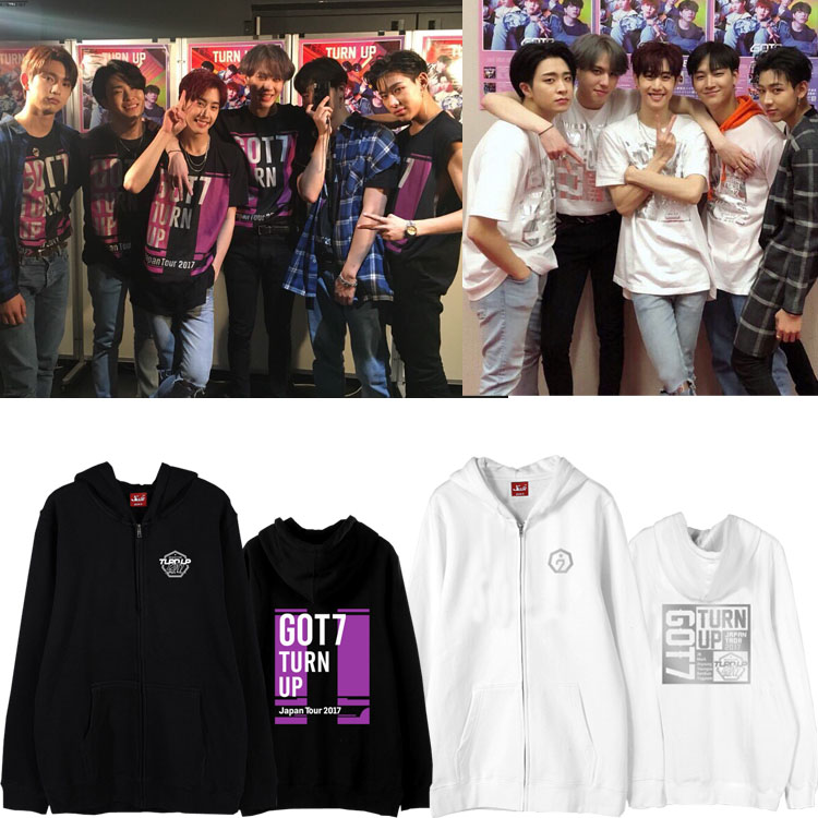 Jacket Hoodie GOT7 TURN UP Japan Tour 2017 -ระบุไซต์/สี-