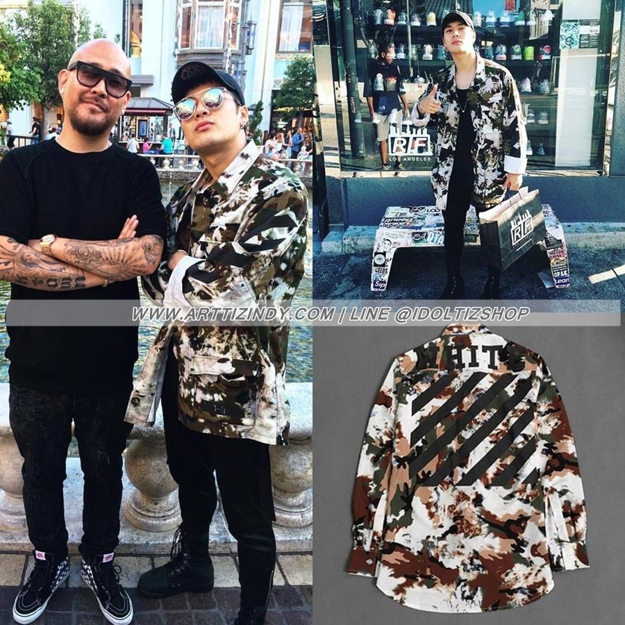 เสื้อเชิ้ต OFF-WHITE 16ss Camonflage Sty.Jackson GOT7 -ระบุไซต์-