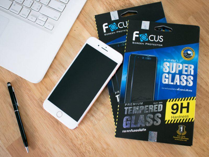 iPhone 8 - FOCUS SUPER GLASS 9H กระจกกันรอย แข็งแกร่งพิเศษ แท้