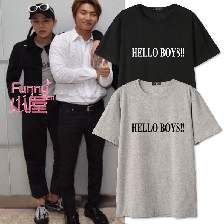 เสื้อยืด Hello BOYS! Sty.G-Dragon -ระบุสี/ไซต์-
