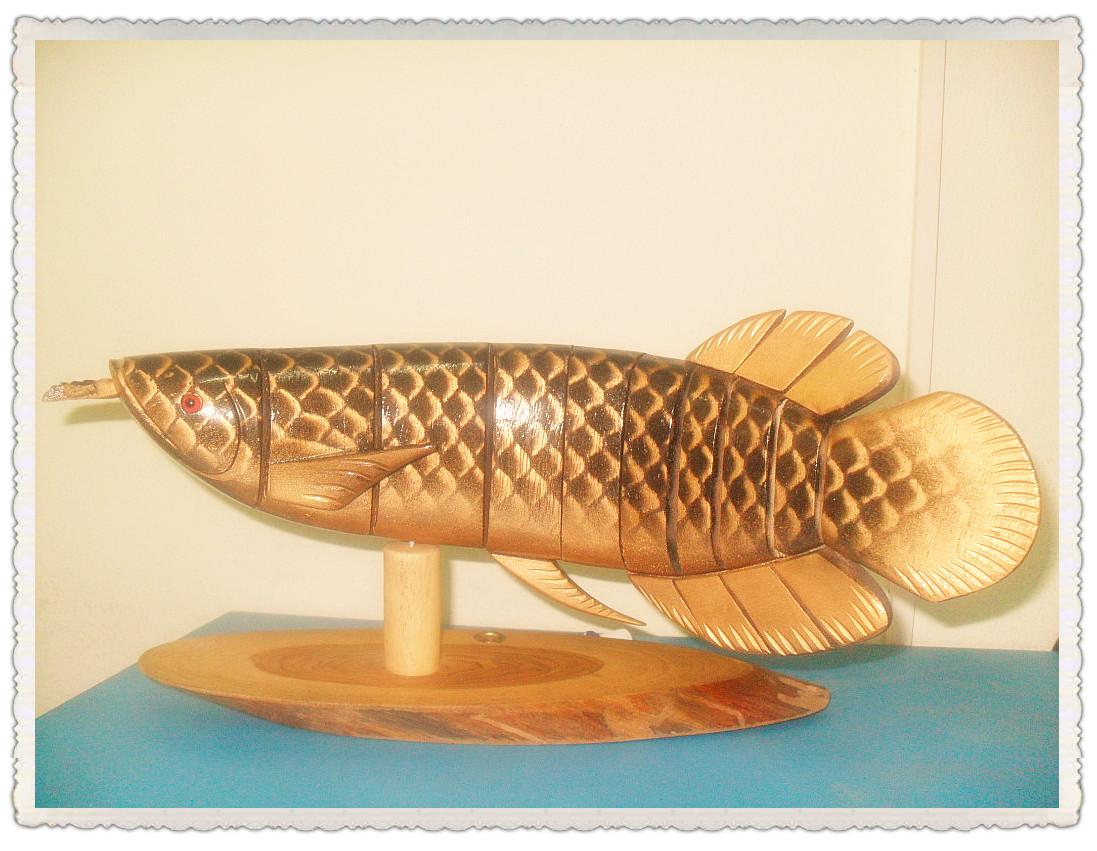 ปลาทองไม้สัก+เสียบปากกา