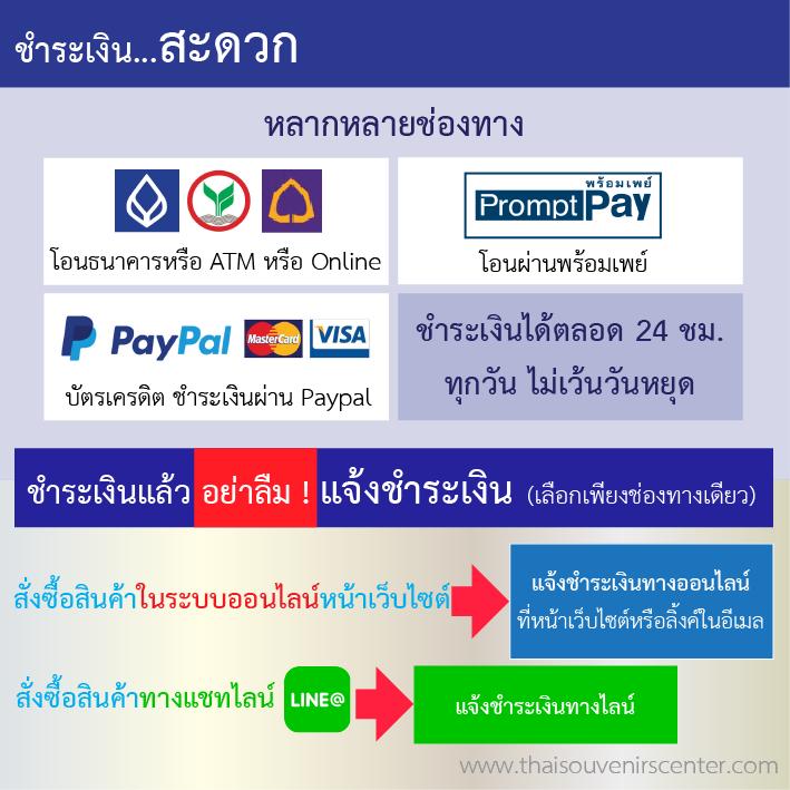 วิธีการชำระเงิน thaisouvenirscenter