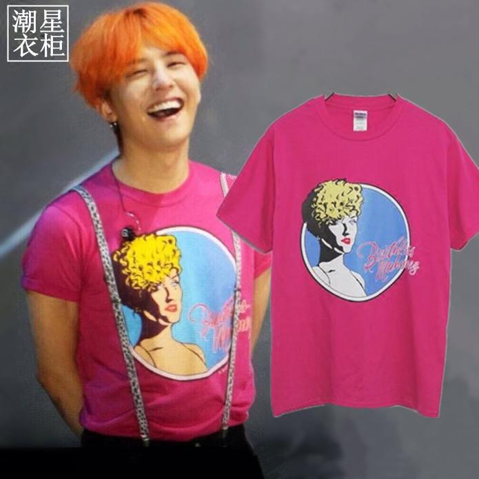 เสื้อยืด Grahpic PINK Sty.G-Dragon -ระบุไซต์-