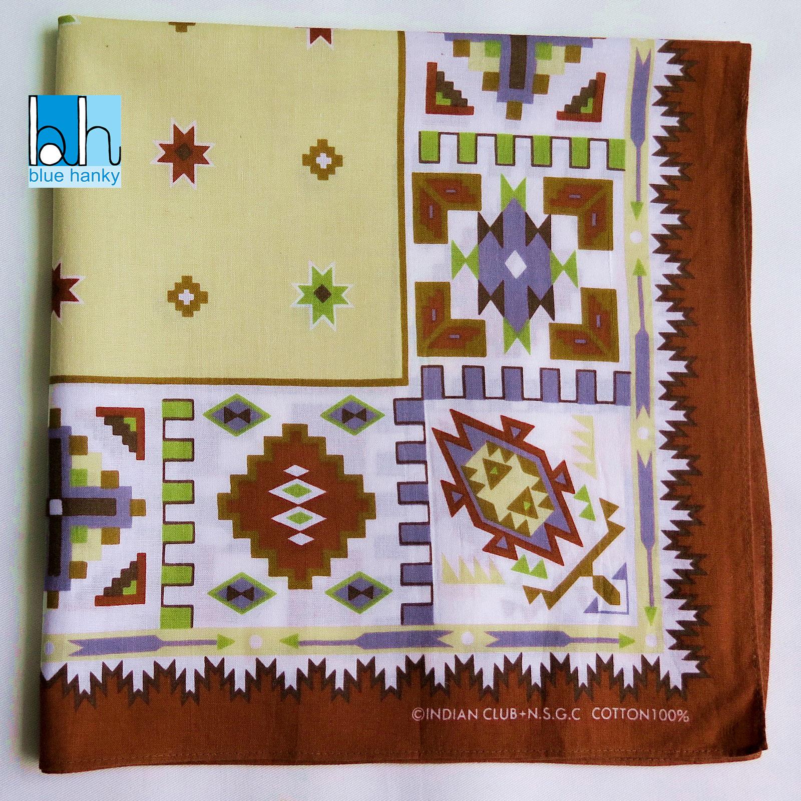 """#285 21"""" INDIAN CLUB ผ้าเช็ดหน้ามือ2 สภาพดี ผ้าเช็ดหน้าผืนใหญ่"""