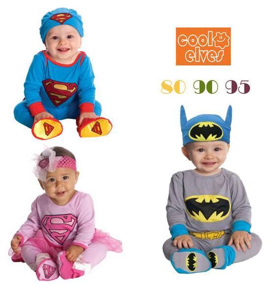 บอดี้สูท Superman / SuperGirl / Batman แขนยาว