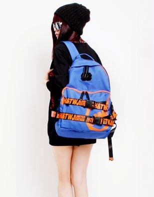 กระเป๋าเป้ MM (MCJH&TWJ) japan fashion สีฟ้า/ดำ-ขาว/ม่วง/น้ำเงิน/ชมพู/เขียว/เทา/แดง/ดำ-ชมพู