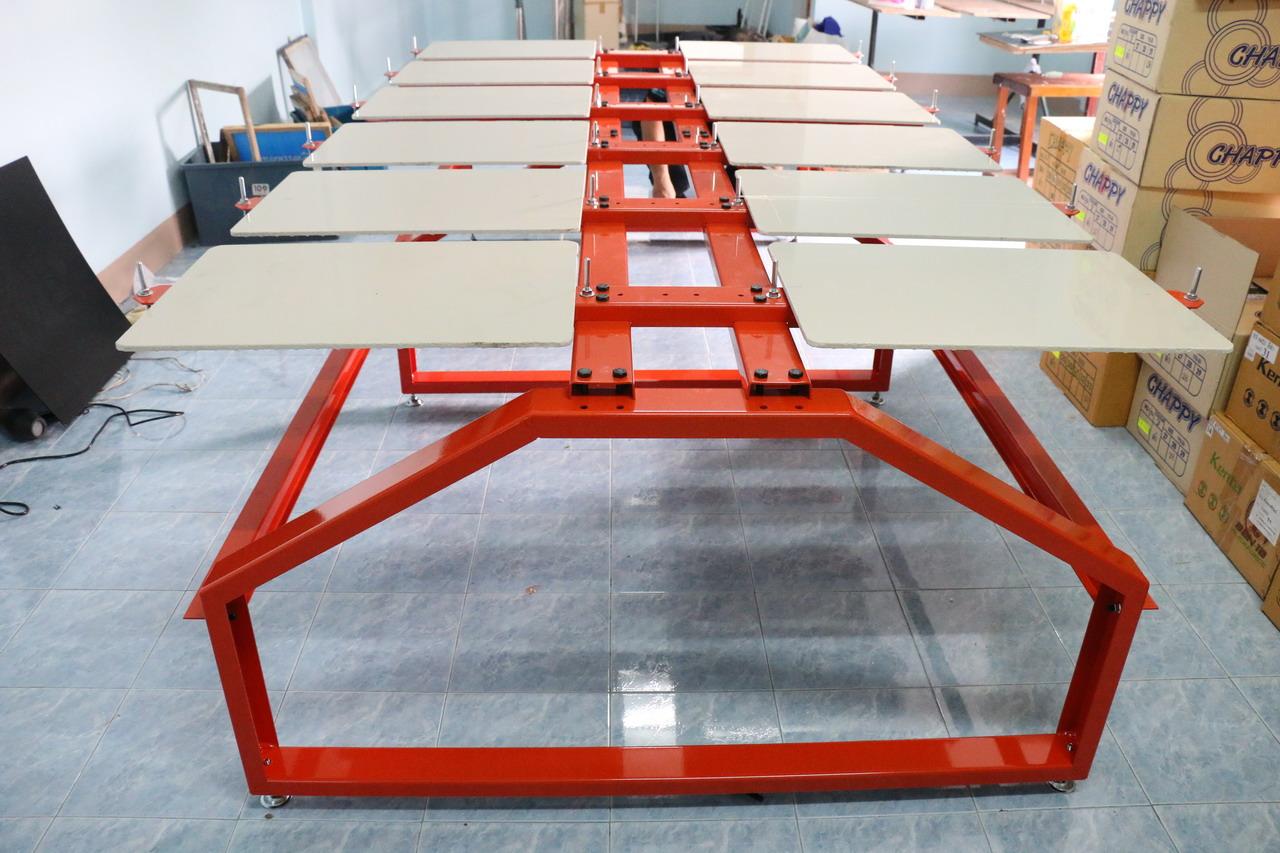 โต๊ะสกรีนขนาด 12แป้น(เหล็กพับหนา3mm)