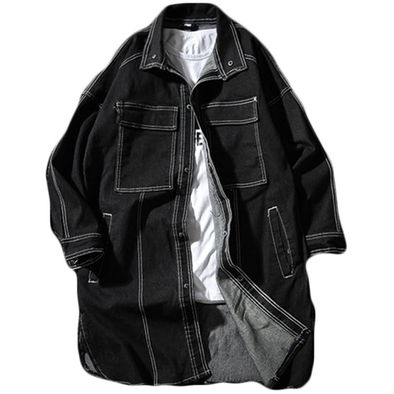 *Pre Order*Denim Jacket/เสื้อตัวยาว แฟชั่นญี่ปุ่น size M-5XL