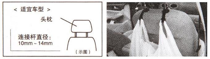 ตะขอสำหรับแขวนสิ่งของในรถยนต์หลังเบาะนั่ง