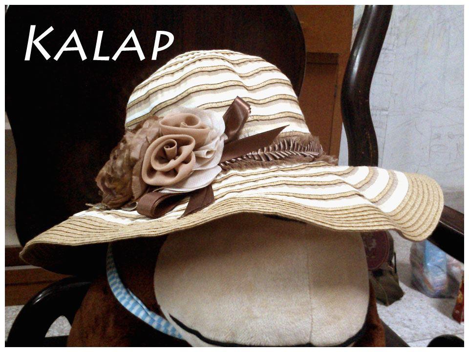 [พร้อมส่ง] หมวกปีกกว้าง ประดับดอกไม้ผ้าวินเทจ : Brown Vintage Flower