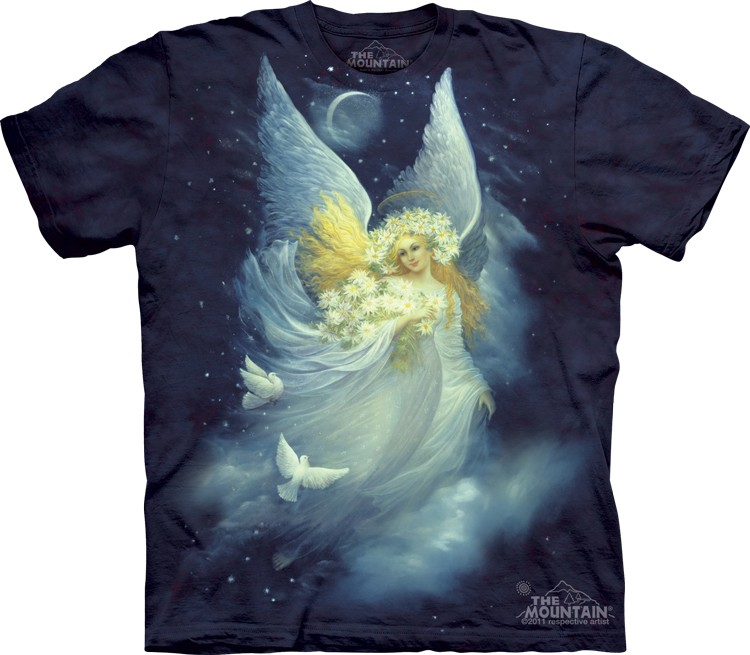 Pre.เสื้อยืดพิมพ์ลาย3D The Mountain T-shirt : Angel Of Night MD