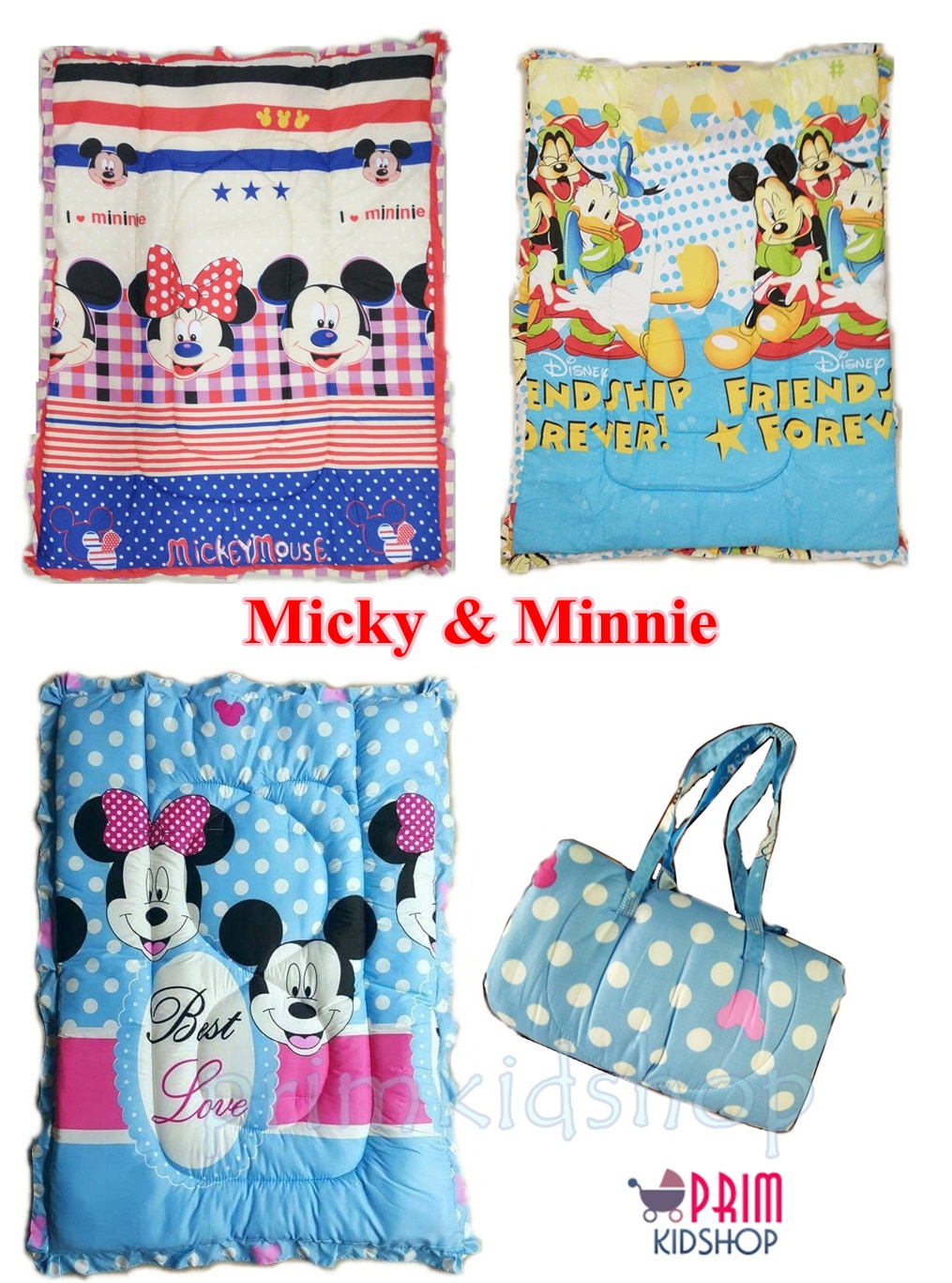 ที่นอนเด็กอนุบาลลาย Micky & Minnie