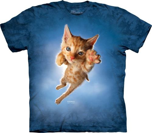 Pre.เสื้อยืดพิมพ์ลาย3D The Mountain T-shirt : Pounce Peeps T-Shirt
