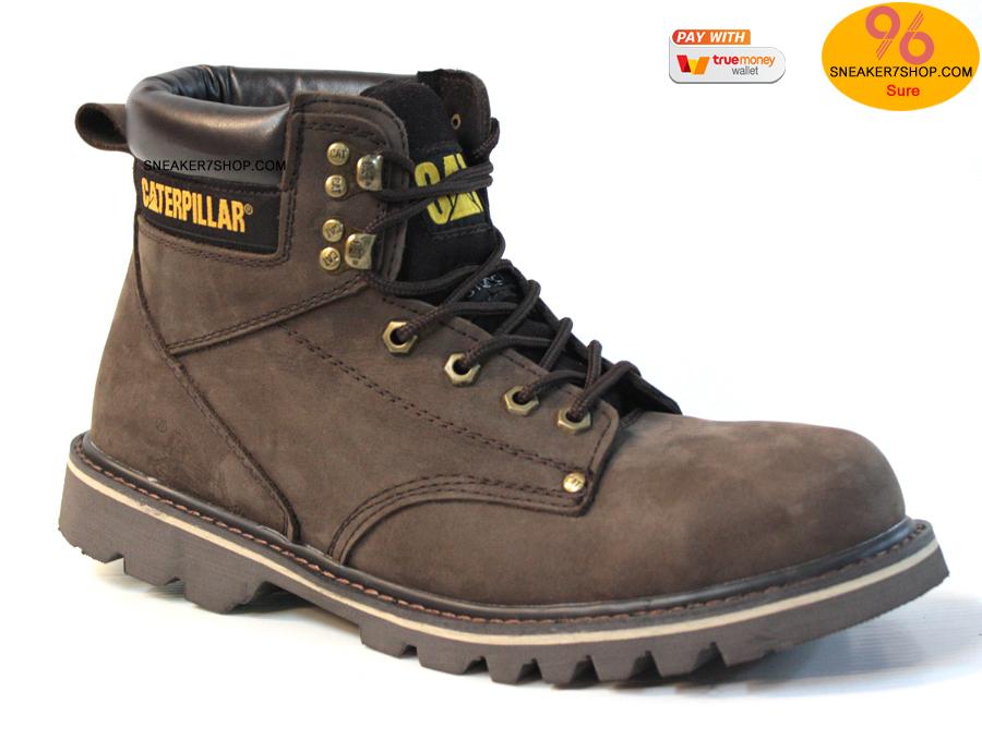 """รองเท้า CATERPILLAR CAT SECOND SHIFT 6"""" STEEL TOE น้ำตาลดำ หนังด้านชามัวร์ รองเท้าเซฟตี้ หัวเหล็ก size 39-45 สินค้าใหม่"""