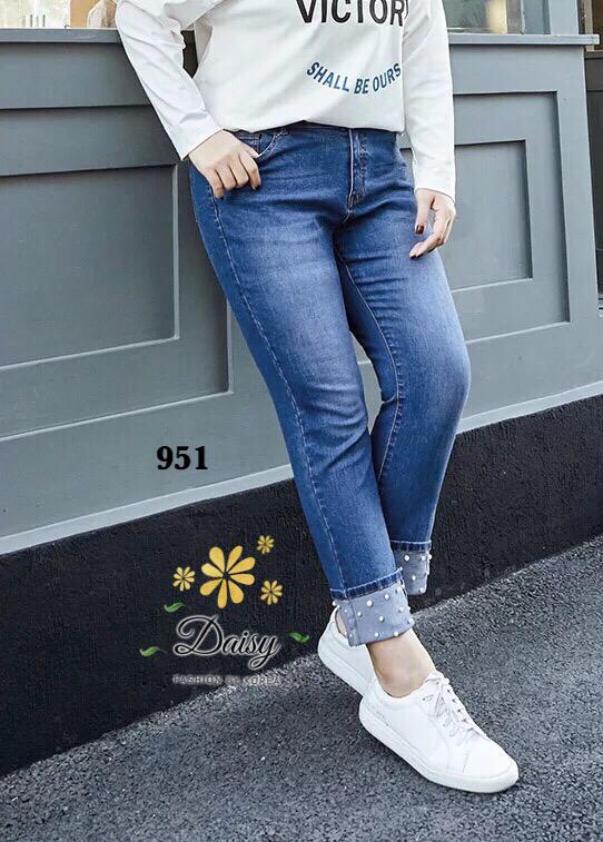 กางเกงแฟชั่น กางเกงยีนส์ทรงเดฟผ้ายีนส์ฮ่องกง ผลิตมาไซส์ใหญ่