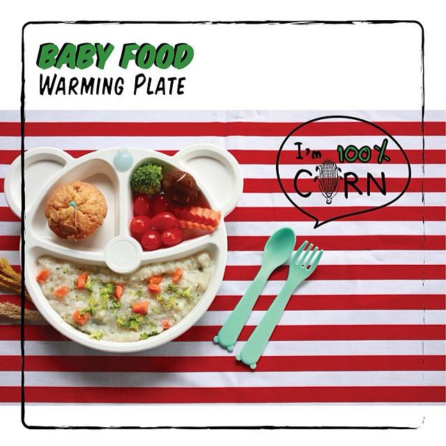 จานเก็บความร้อน Earth Dezign Self-Warming Plate จานอุ่นร้อน Organic จากข้าวโพด 100% PLA BPA FREE
