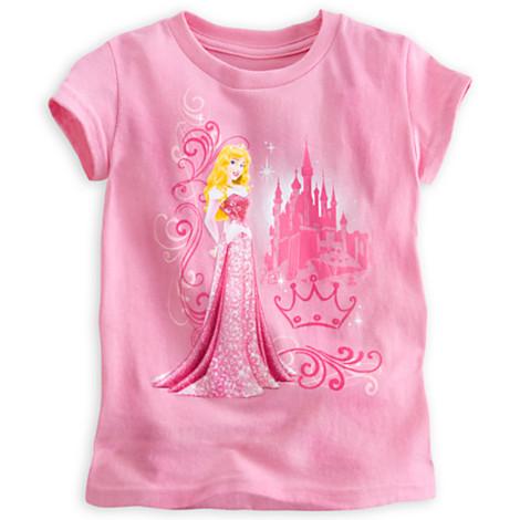 zDisney Princess Aurora Heathered Disney Tee - Sleeping Beauty ของแท้ นำเข้าจากอเมริกา (Size: 5/6)