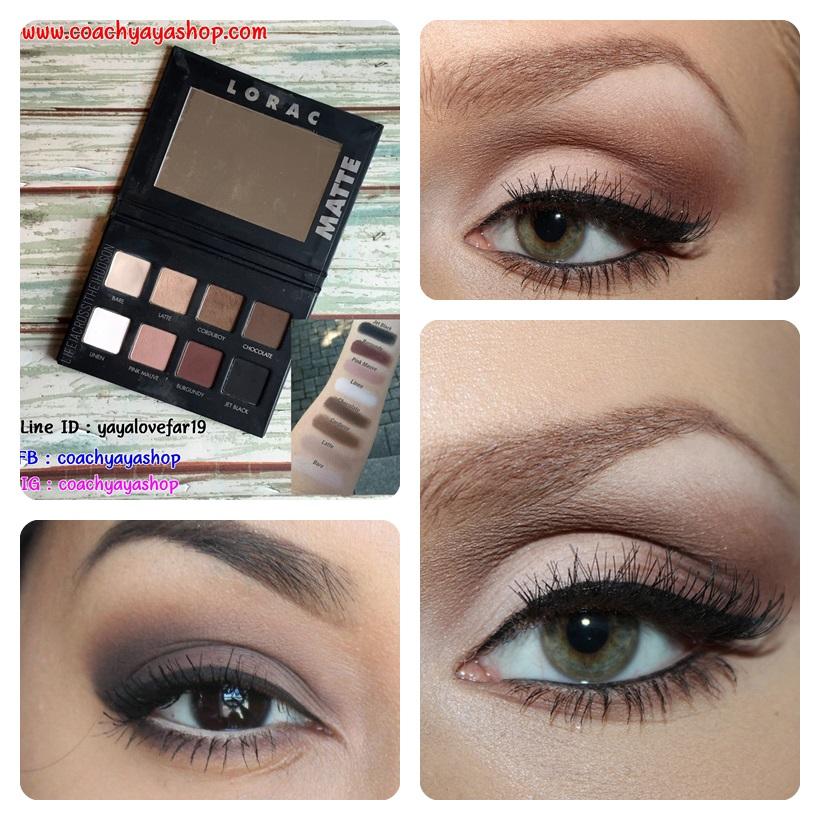**พร้อมส่ง+ลด 30%** Lorac Pro matte palette (8 eye shadows 4g.) ขนาดพกพา น่ารักมาก