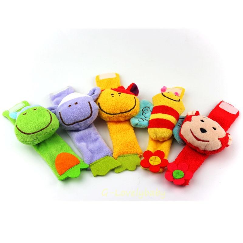 ของเล่นเด็กทารก คุณภาพดี ของเล่นเสริมพัฒนาการเด็ก สายรัดข้อมือผ้ากำมะหยี่ตุ๊กตาสามมิติของเล่นเด็กอ่อน ของเล่นเด็กตุ๊กตารูปสัตว์สามมิติมีกระดิ่งเสียงกรุ๊งกริ้ง