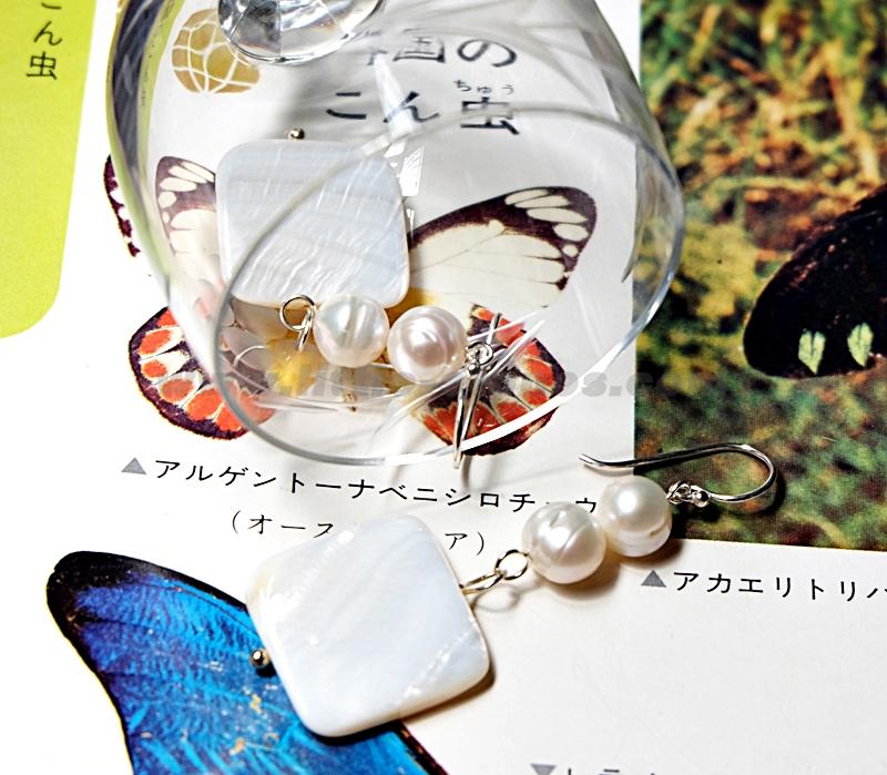 ++ ต่างหูมุก & เปลือกหอยมุก ก้านเงินแท้ 92.5 อย่างหนา (Pearl & Mother of Pearl earrings) ++