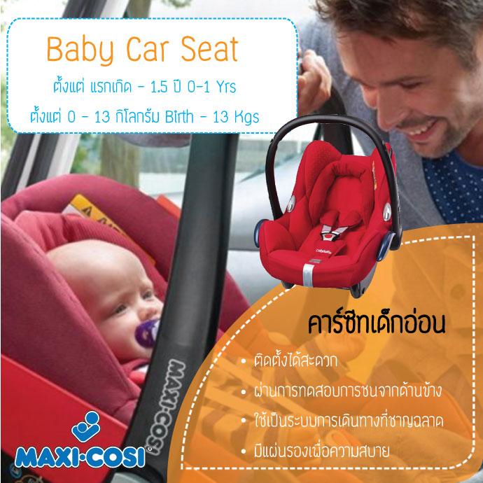 Maxi-Cosi คาร์ซีทตะกร้า รุ่น Cabrio Fix สำหรับเด็กแรกเกิด - 12 เดือน