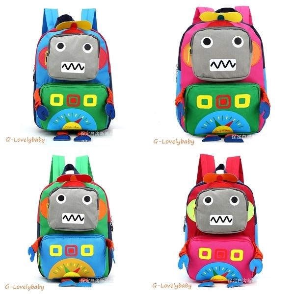 Kids Backpacks Kindergarten Backpacks กระเป๋าเป้เด็ก กระเป๋าเด็กลายการ์ตูน โรบอท robot กระเป๋าเป้เด็ก กระเป๋าสำหรับเด็กอนุบาล
