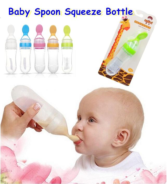 ฺช้อนป้อนอาหารเหลวสำหรับทารก Baby Spoon Squeeze Bottle