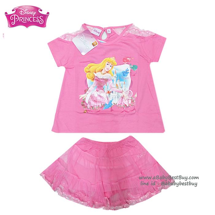(Size S-M-L) ชุดเสื้อ กระโปรง ลายเจ้าหญิงออโรร่า สีชมพู ดิสนีย์แท้ ลิขสิทธิ์แท้ (สำหรับเด็ก1-2-3 ปี)