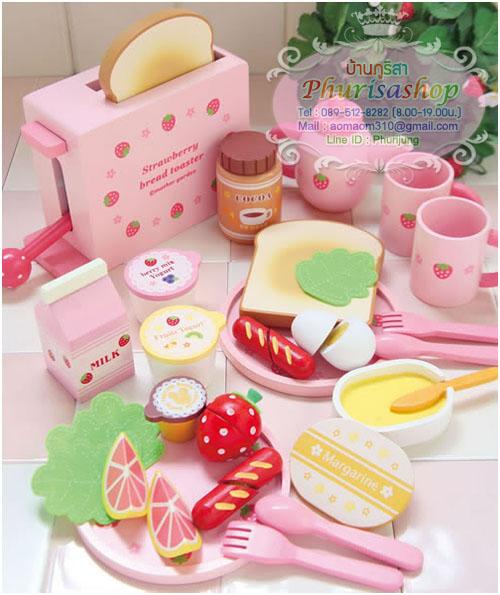 """ชุดเครื่องปิ้งขนมปัง (Strawberry Bread Toaster) ของ """"Mother Garden """""""