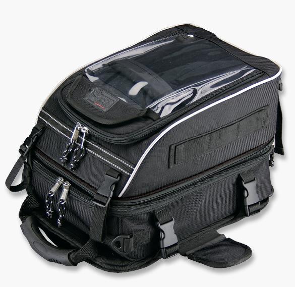 กระเป๋าติดถัง KOMINE SA-042 #สีดำ (มีถุงคลุมกันฝน)