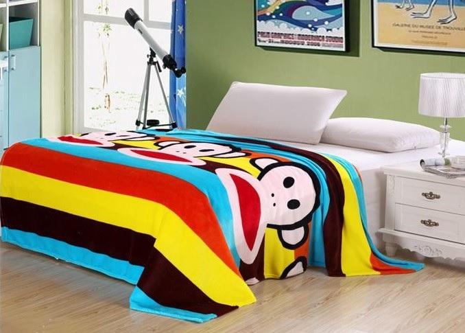 ผ้าห่มผืนใหญ่ ลายพอลลิงปากกว้าง ขนาด 150 * 200 ซม.