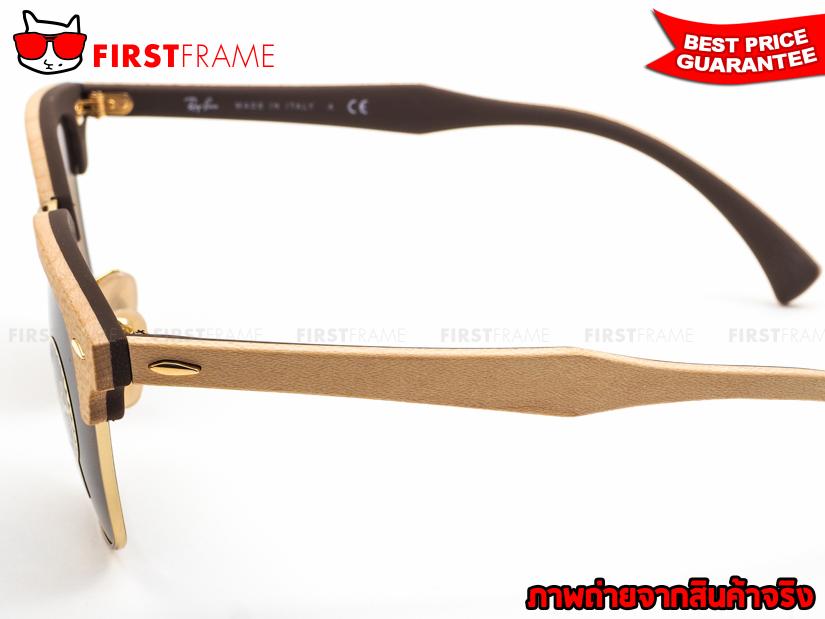 แว่นกันแดด RayBan RB3016M 1179 CLUBMASTER WOOD 4