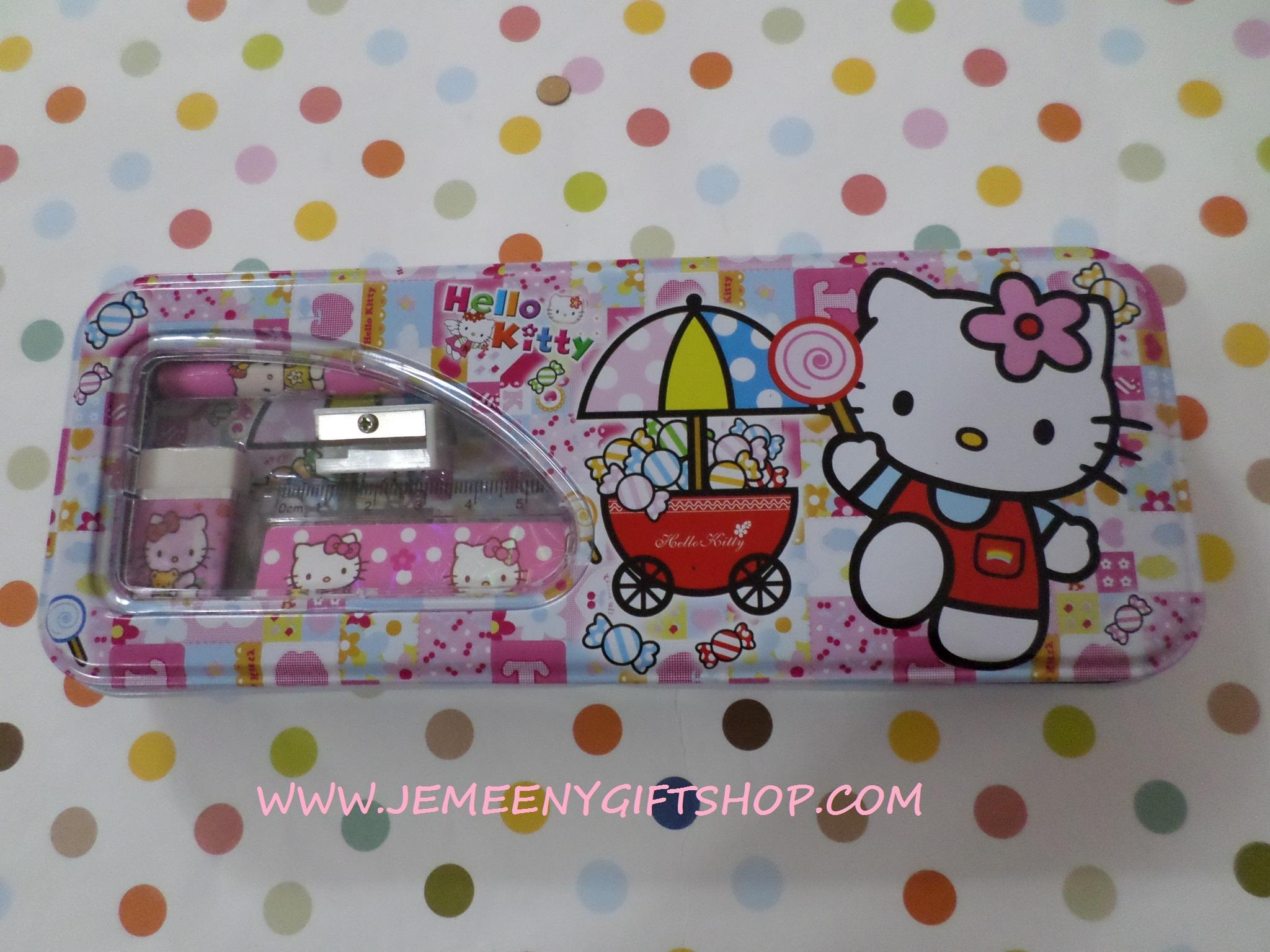 กล่องดินสอเหล็ก ฮัลโหลคิตตี้ Hello kitty#1 ขนาด 8 ซม. * 21 ซม. ลายฮัลโหลคิตตี้