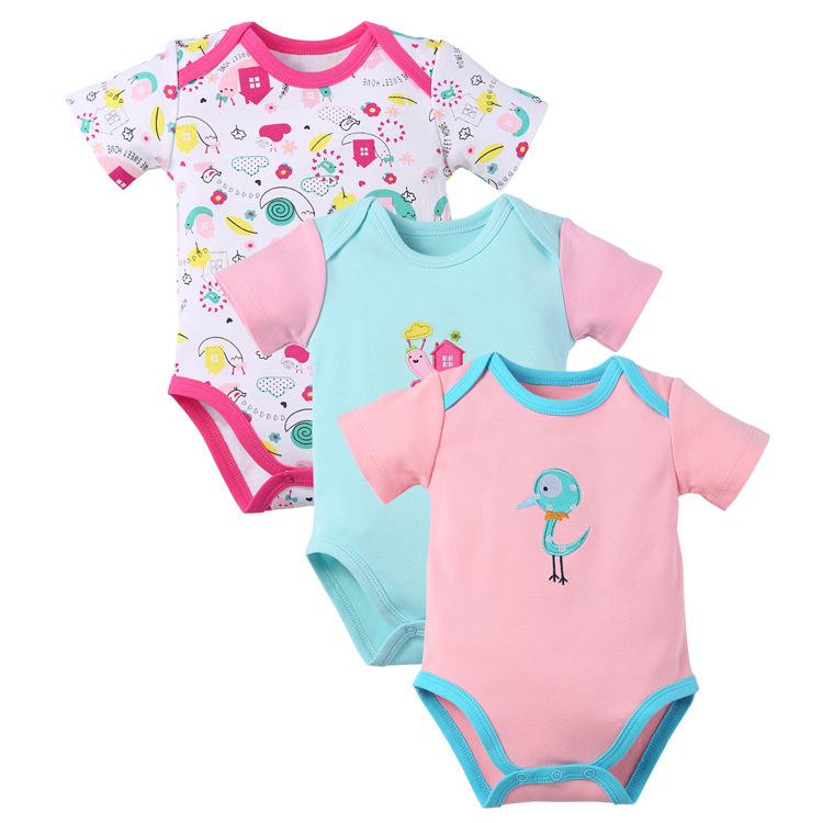 พร้อมส่ง gift set ชุดทารกใช้ได้ทั้งเพศหญิง-ชาย Jumpsuit Romper จั้มสูทแขนสั้น รหัส T-66034 คละสี ไซร์ 6M (เด็ก 3-6 เดือน ) /1 เช็ต 3 ชุดสุ่มแบบ ชุดละ 95บาท