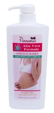 Pannamas Aloe Vera Stretch Marks Massage Lotion พรรณมาศ อโลเวร่า โลชั่นทาท้องลาย
